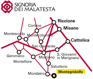Mappa cartina montegridolfo